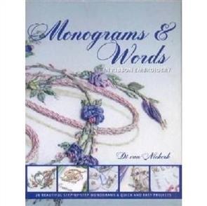 Di Van Niekerk  Monograms & Words in Ribbon Embroidery