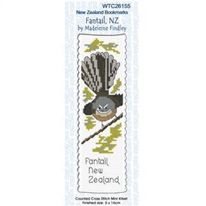 Lyn Manning  Cross Stitch Kit Bookmark - Fantail NZ