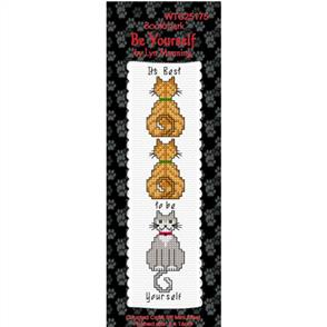 Lyn Manning  Cross Stitch Kit Bookmark - Be Yourself (Cats)