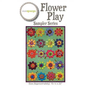 Sue Spargo  Flower Play - Pattern & Template