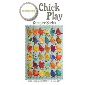 Sue Spargo  Chick Play - Pattern & Template
