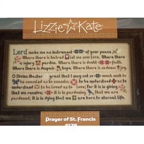 Lizzie Kate Cross Stitch Chart - Prayer of St. Francis