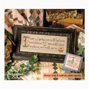 Lizzie Kate Cross Stitch Chart - If We Pray