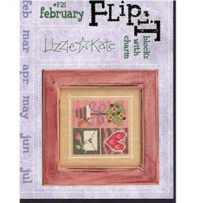 Lizzie Kate Cross Stitch Chart - February Blocks