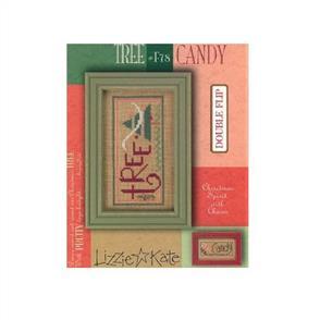 Lizzie Kate Cross Stitch Chart - Tree & Candy - Holiday Spirit Series