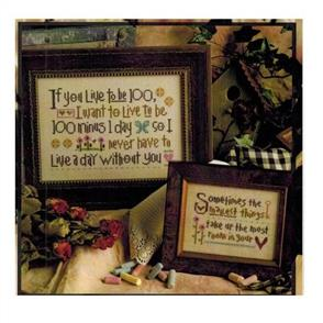 Lizzie Kate  Cross Stitch Chart - If You Live To Be 100