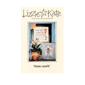 Lizzie Kate Cross Stitch Chart - Home-work!