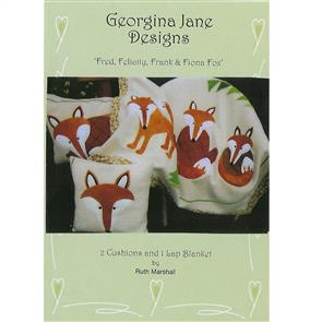 Georgina Jane Designs Fred, Felicity, Frank & Fiona Fox