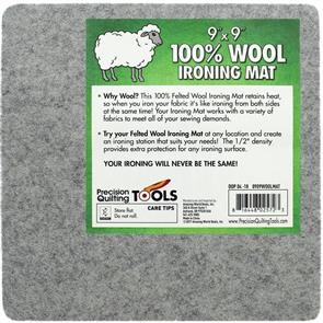 """Precision  Felted Wool Ironing Mat - 9"""" x 9"""""""