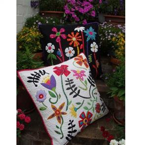 Wendy Williams  Pattern - Bugs and Blooms cushions