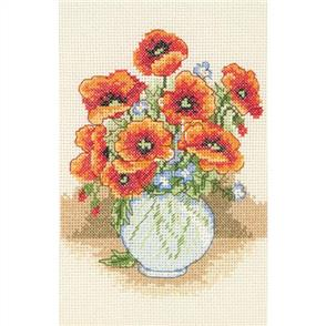 Anchor  Starter Kits: Cross Stitch Poppy Vase