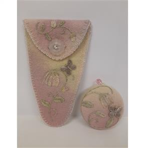 Ribbon Rose Bell Flower Scissor Case