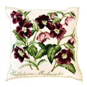Elizabeth Bradley  Tapestry Kit - Hellebore Midnight (Cream Background)
