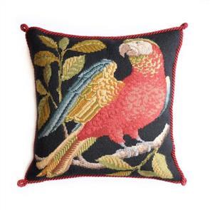 Elizabeth Bradley Tapestry Kit - Alister the Parrot (Black background)