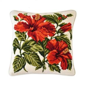 Elizabeth Bradley  Tapestry Kit - Hibiscus (Winter White background)