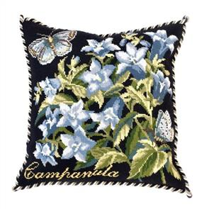 Elizabeth Bradley  Tapestry Kit - Campanula (Black background)