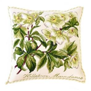 Elizabeth Bradley  Tapestry Kit - Hellebore Moondance (Cream background)