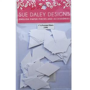"Sue Daley  English Paper Pieces - 1"" 6 Pointed Stars"