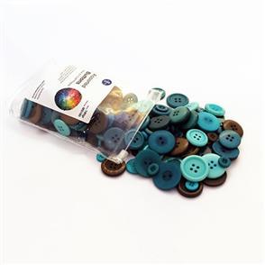 Trendy Trims Bulk Buttons - Multisize Mix - Assorted Green