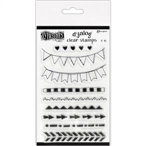 """Ranger Ink Dyan Reaveley's Dylusions Clear Stamps 4""""X8"""" - On the Edge"""