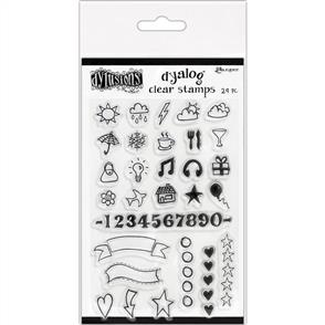 """Ranger Ink Dyan Reaveley's Dylusions Clear Stamps 4""""X8"""" - The Full Package"""