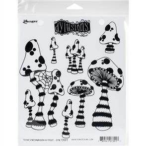 """Ranger Ink Dyan Reaveley's Dylusions Cling Stamp Collections 8.5""""X7"""" - Not Mushroom"""