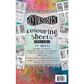"Ranger Ink  Dyan Reaveley's Dylusions Coloring Sheets #3 5""X8"" - Collection 3"