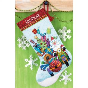 Dimensions  Cross Stitch Kit - Santa's Sidecar Stocking