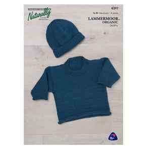 Naturally  Lammermoor Organic - K397 Jumper & Beanie - Knitting Patterns
