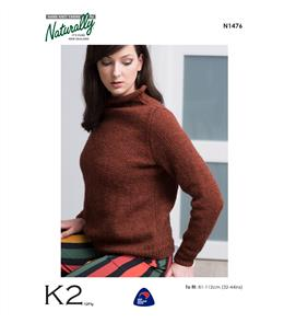 Naturally  K2 Yarns - N1476 Jumper - Knitting Patterns