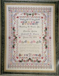 Cross My Heart  - Wedding Sampler - Counted Cross Stitch Pattern