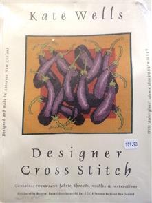 Kate Wells  Designer Cross Stitch Kit - Egg Plants