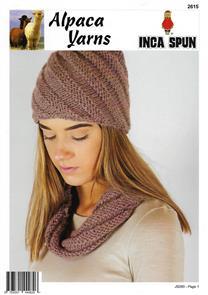 Alpaca Yarns 2615 Swirl Cowl and Hat - Knitting Patterns