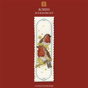 Textile Heritage  Counted Cross Stitch Bookmark Kit - Robins