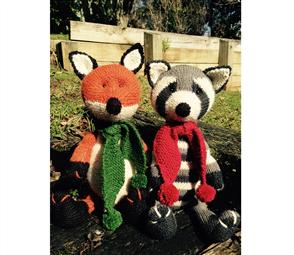 Cameron-James Designs  Chase the Fox and Rascal the Raccoon Knitting Pattern