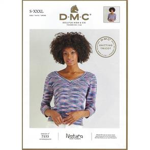 DMC 7153 - Reversible Top - Knitting Pattern