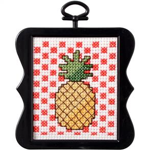 "Bucilla  Beginner Minis Counted Cross Stitch Kit 3""X3"" - Pineapple"