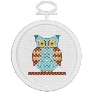 Janlynn  Mini Cross Stitch Kit: Owl