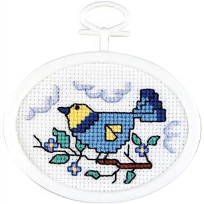 Janlynn  Mini Cross Stitch Kit: Bird on a Branch