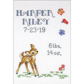 Janlynn  Counted Cross Stitch Kit - Baby Deer Sampler