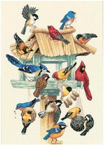 Dimensions  Feasting Frenzy - Birds - Cross Stitch Kit
