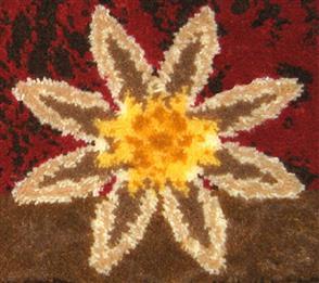 M.C.G  Red Floral Geometric - Latch Hook Kit -