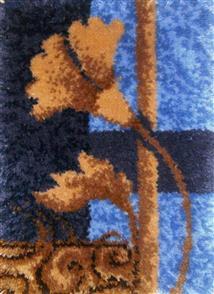 M.C.G  Carved Floral Geometric - Latch Hook Kit -