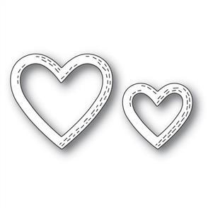 Poppystamps  Whittle Heart Frames - Die