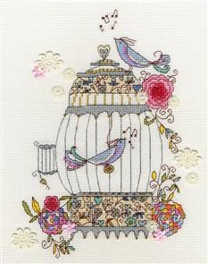 Bothy Threads  Love Birds - Cross Stitch Kit
