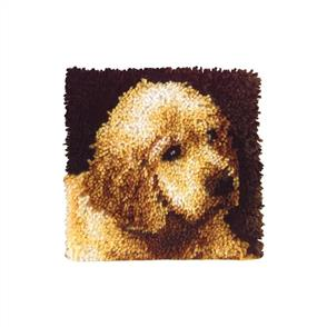 "Caron Wonderart  Latch Hook Kit - Puppy Love - 12"" x 12"""