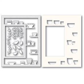 Poppystamps  Greenhouse Potted Plants Sidekick Frame and Stencil - Die