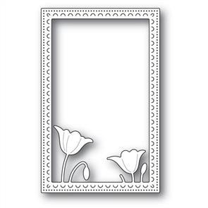 Poppystamps  Garden Poppy Stitched Frame - Die