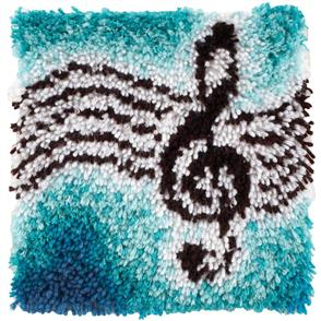 "Caron Wonderart  Latch Hook Kit - Treble Clef 12"" x 12"""