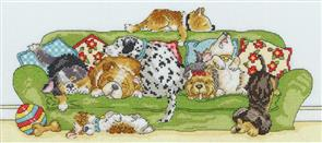 Bothy Threads  Lazy Dogs - Cross Stitch Kit